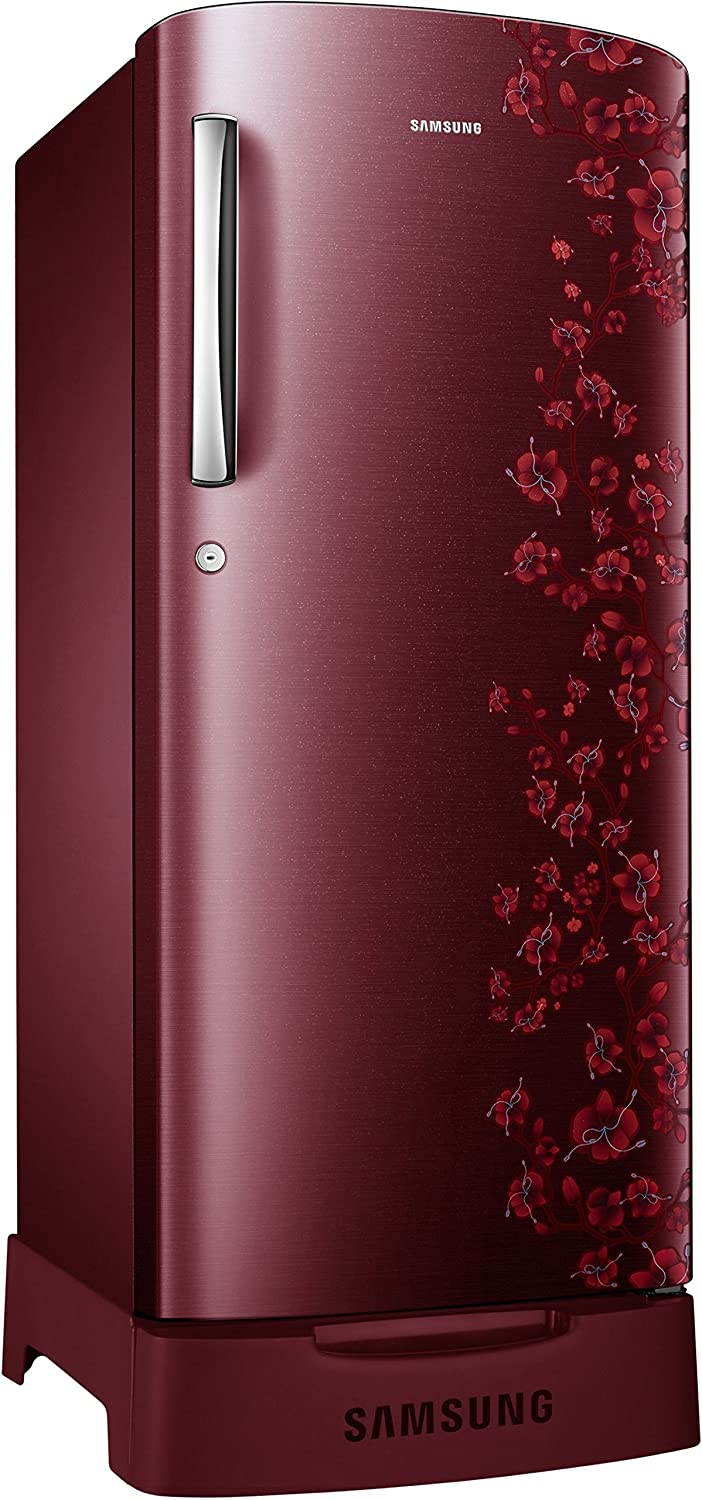 refrigerator samsung. samsung 192 l 5 star direct-cool single door refrigerator (rr19j2835rx/tl, orcherry garnet red): amazon.in: home \u0026 kitchen