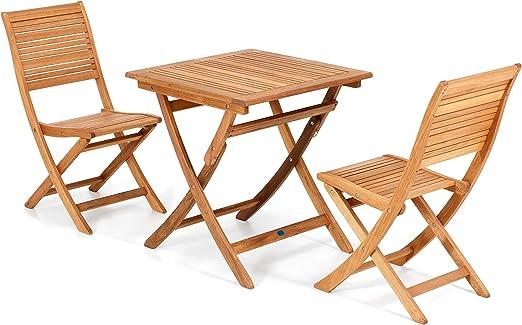 dining composto da Tavolo con 4 sedie pieghevoli Set California mod