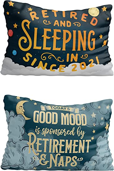 Retirement Gifts for Women, Men - Funny Pillow Cover