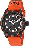 Nautica Unisex NAD10077G NSR 100 FLAG Analog Display Quartz Orange Watch