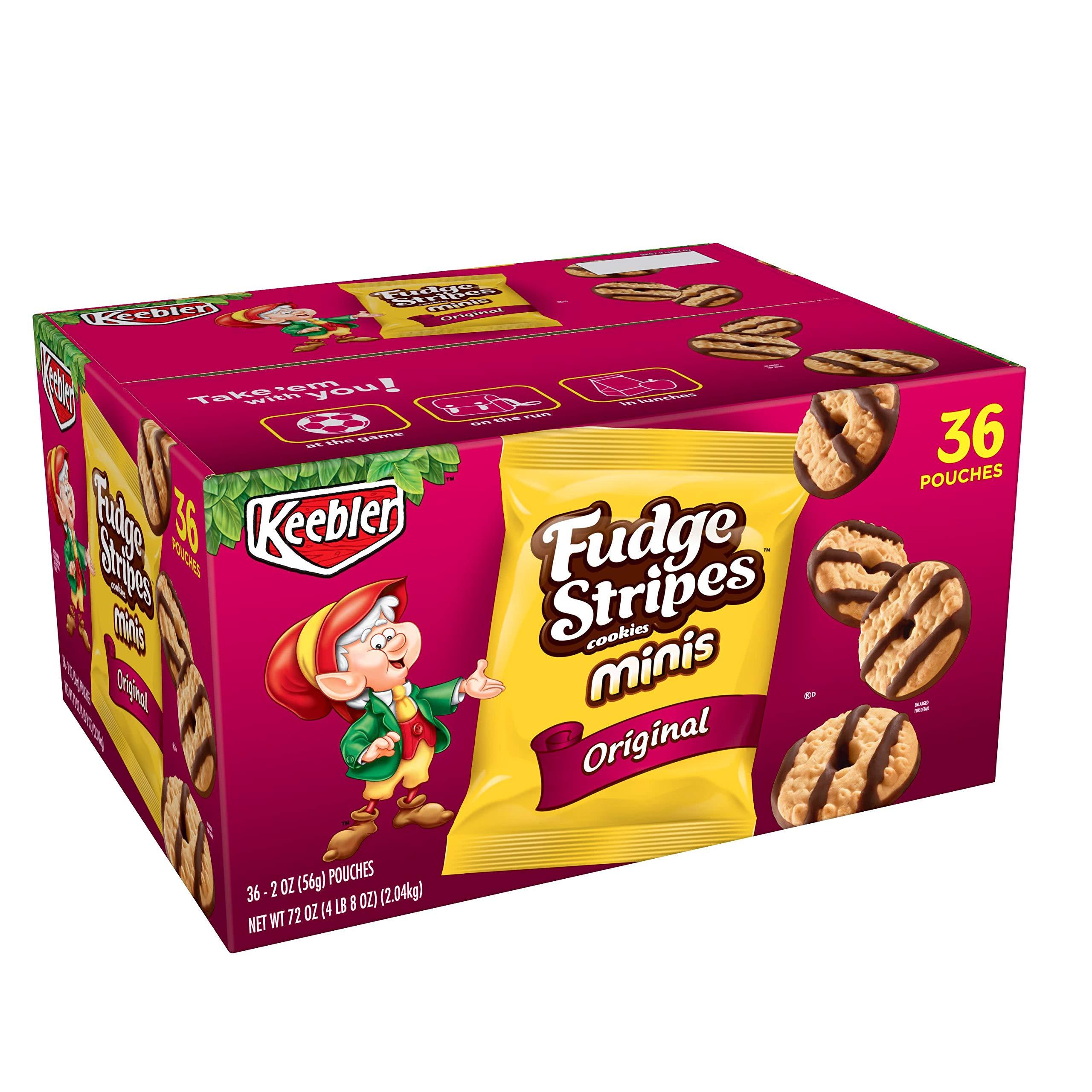 KeeblerFudge Stripes Cookies Minis, Original, 72 oz (36 Count)