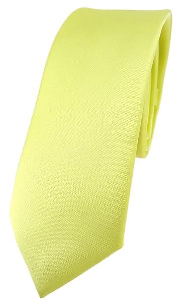 TigerTie - Corbata - Básico - para hombre amarillo limón Talla ...