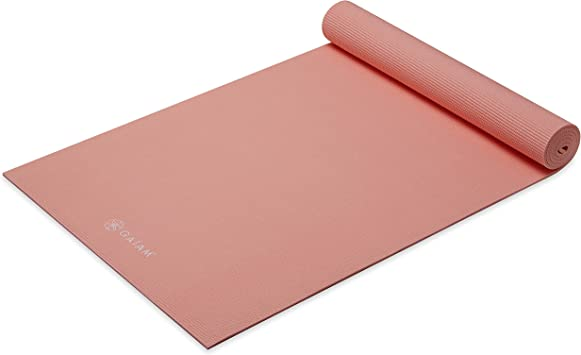 Gaiam Yoga Mat Solid Color Exercise Fitness Mat For All Types Of Yoga Pilates Floor Workouts 68 X 24 X 4mm Or 6mm Thick