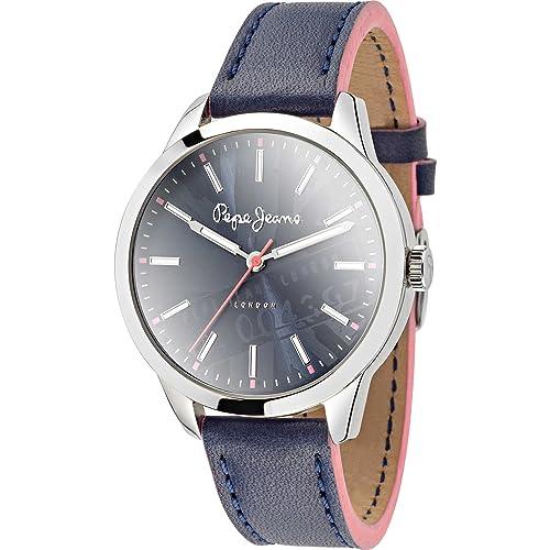Pepe Jeans Damen-Armbanduhr Meg Analog Quarz Leder R2351121503
