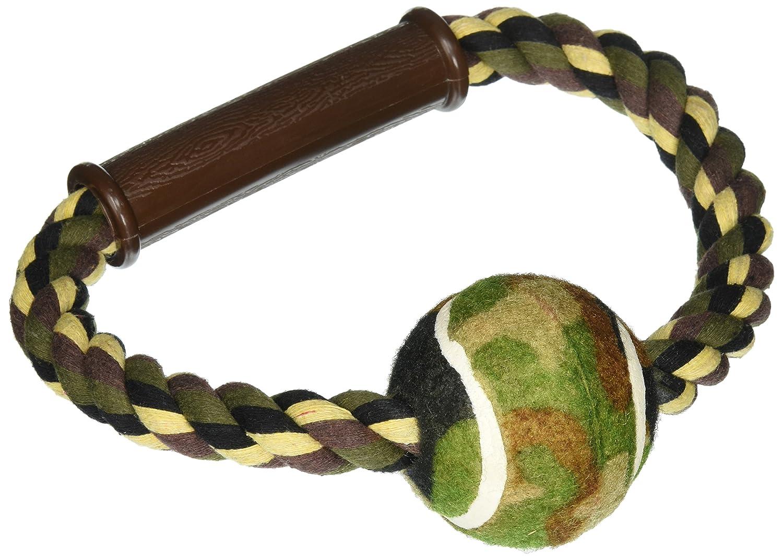 Kole KI-OF880 Camouflage Rope & Ball Dog Toy, One Size