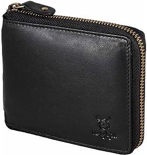 032383f51110e Matador Geldbörse Geldbeutel Portemonnaie Damen Herren ECHT Leder YKK  Reißverschluss RFID Blocker (Schwarz)