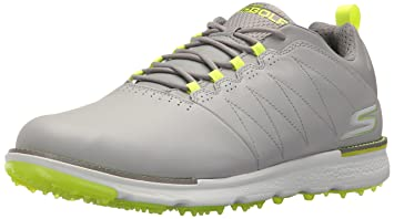 Skechers 2018 Mens GO GOLF Elite V3   Leather Golf Shoes   Waterproof 54523 Grey/Lime 7.5UK