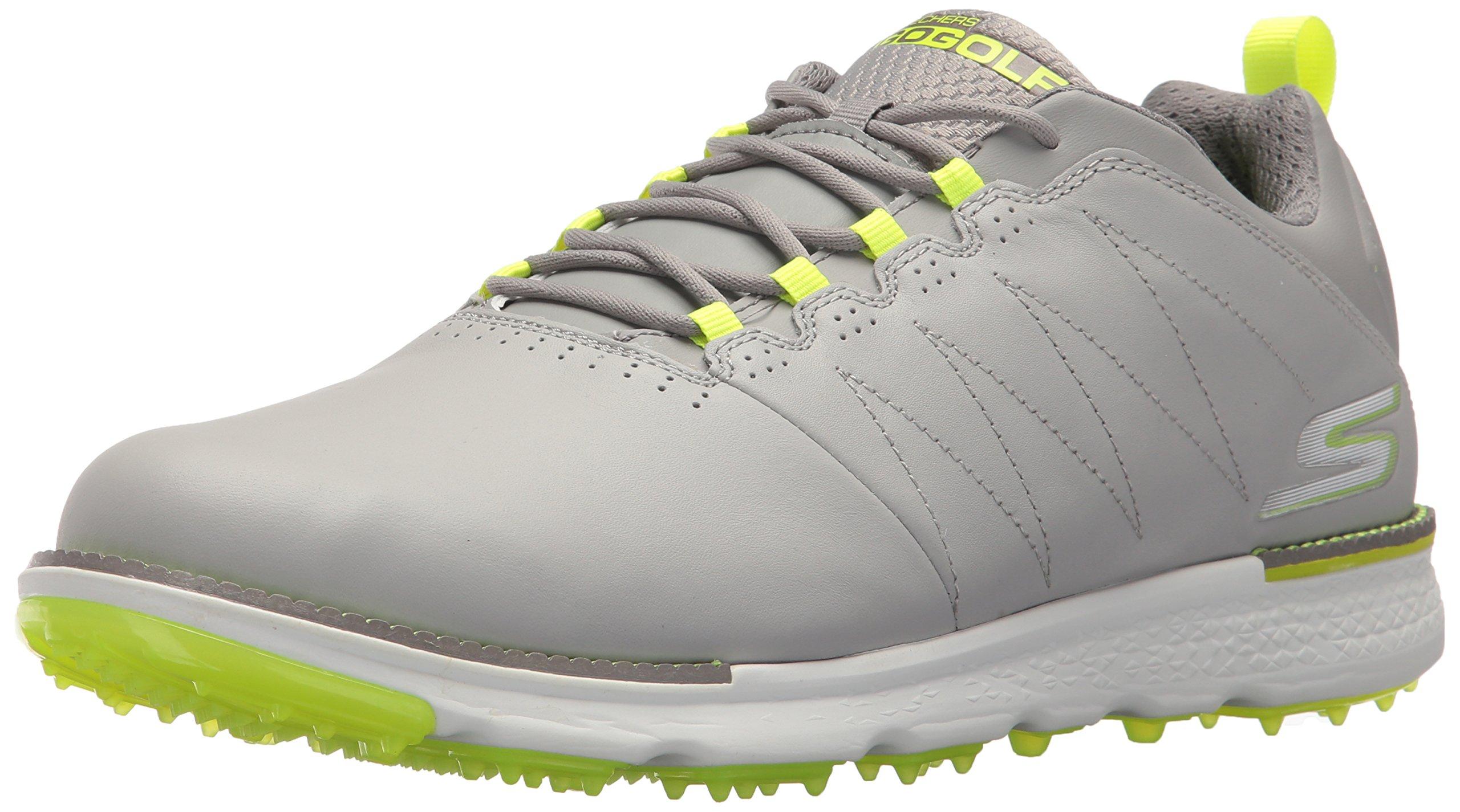 Skechers Men's Go Elite 3 Golf-Shoes,gray/lime,7.5 M US