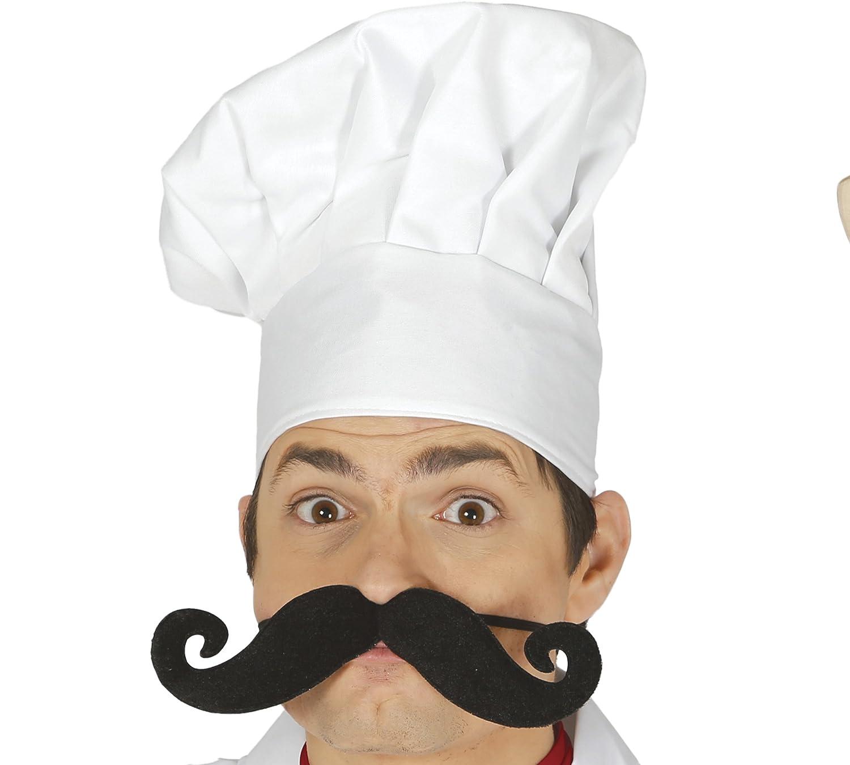 Guirca Baffi Giganti da Chef con Elastico Colore Nero 11950