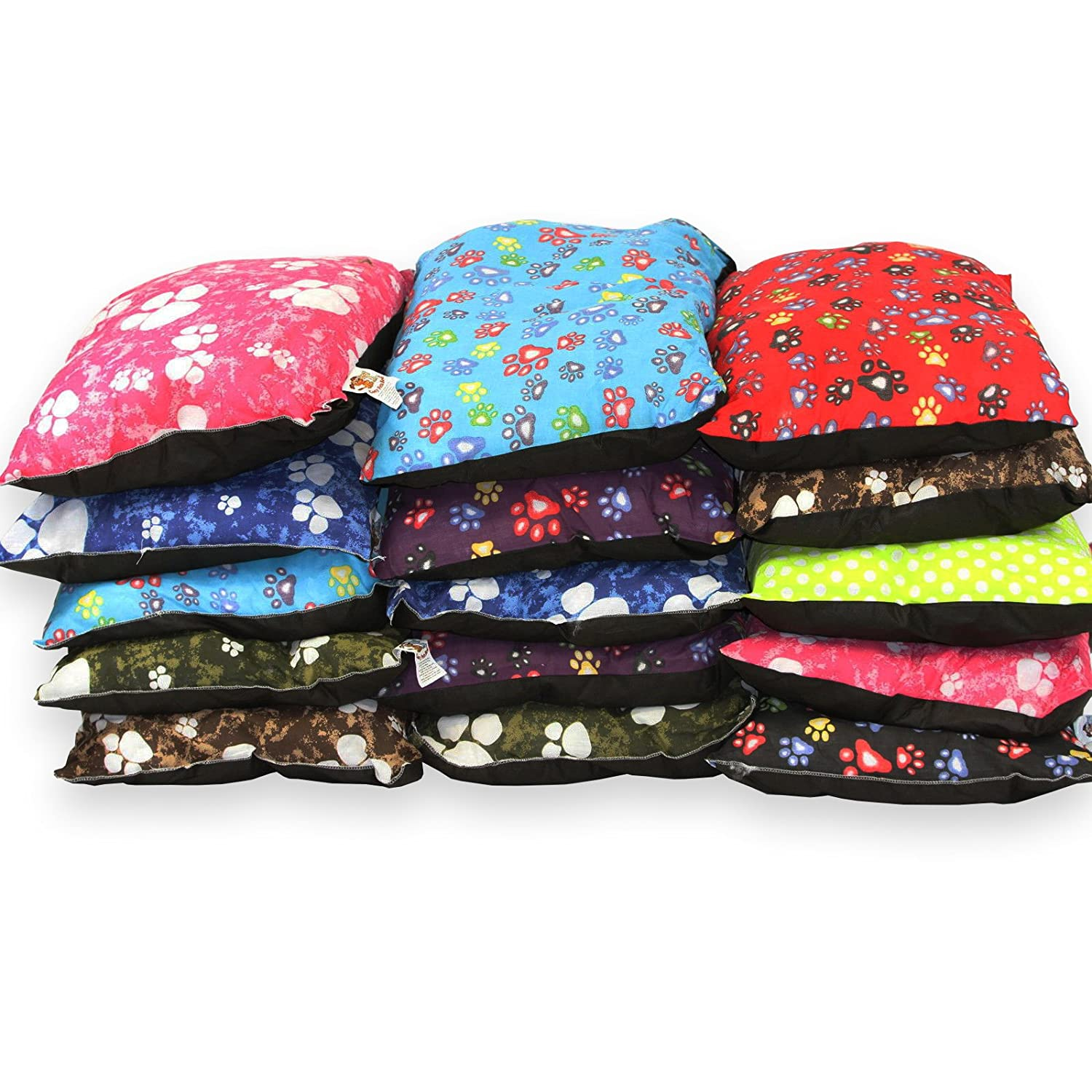 Small 19\ Pet Cushion Bundles 30 PCS (Wholesale) NEW Small 19  x 28  MIX COLOUR Dog Bed (Small 19  x 28 )