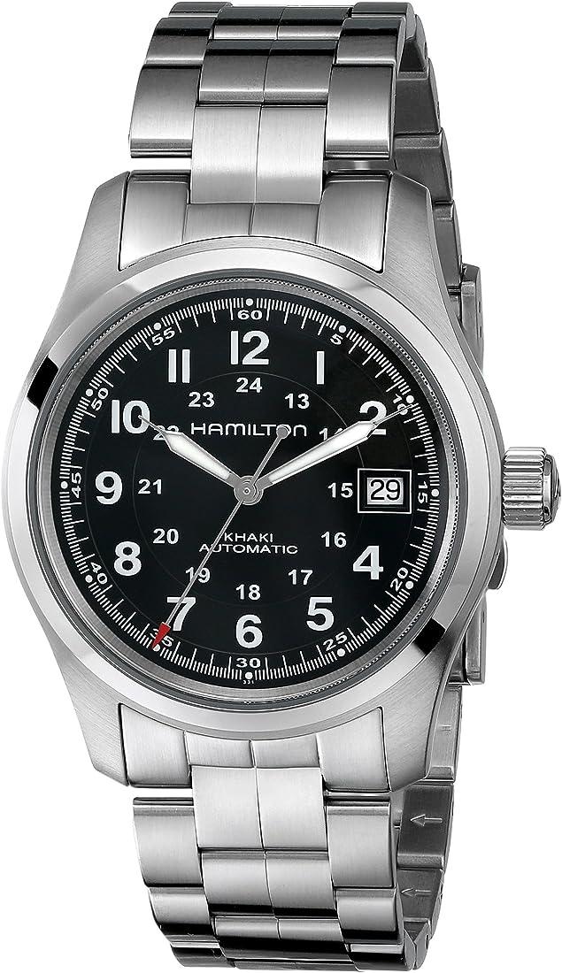 Hamilton orologio da uomo analogico automatico con cinturino in acciaio inox – h70455133 HML-H70455133