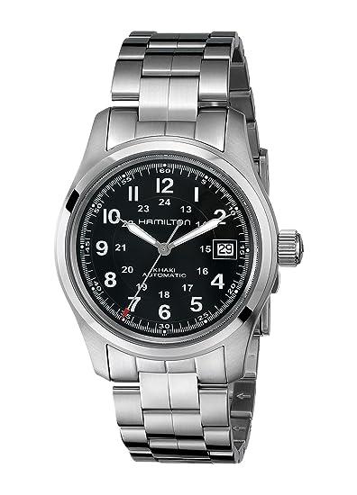 Hamilton Reloj Analógico Automático para Hombre con Correa de Acero Inoxidable - H70455133: Amazon.es: Relojes