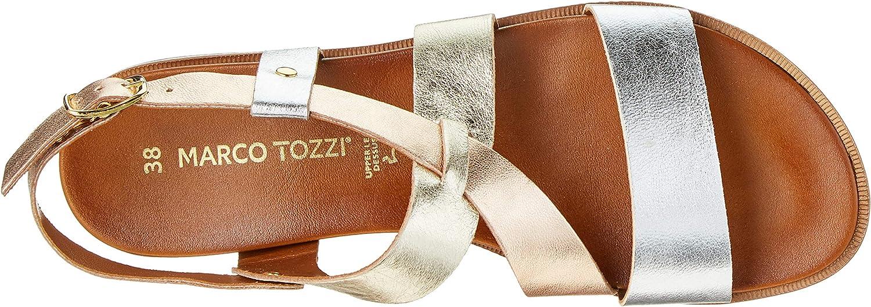 Marco Tozzi Premio 2-2-28142-22, Sandales Bride Cheville Femme Argenté Silver Comb 948