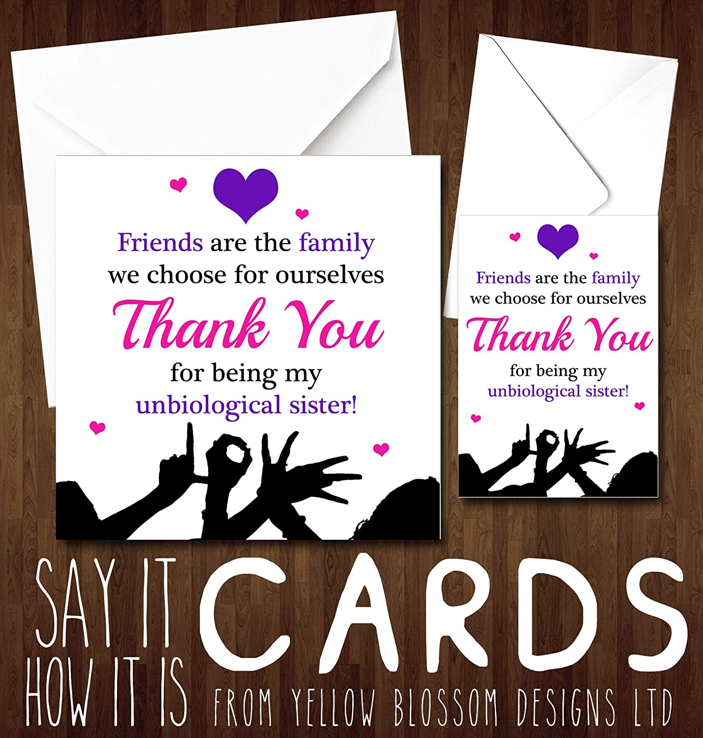 Cute Friendship Greeting Card Friends Are Family Greeting Card Birthday Christmas Xmas Friendship Best Mate BFF Friends Are The Family We Choose Unbiological Sister