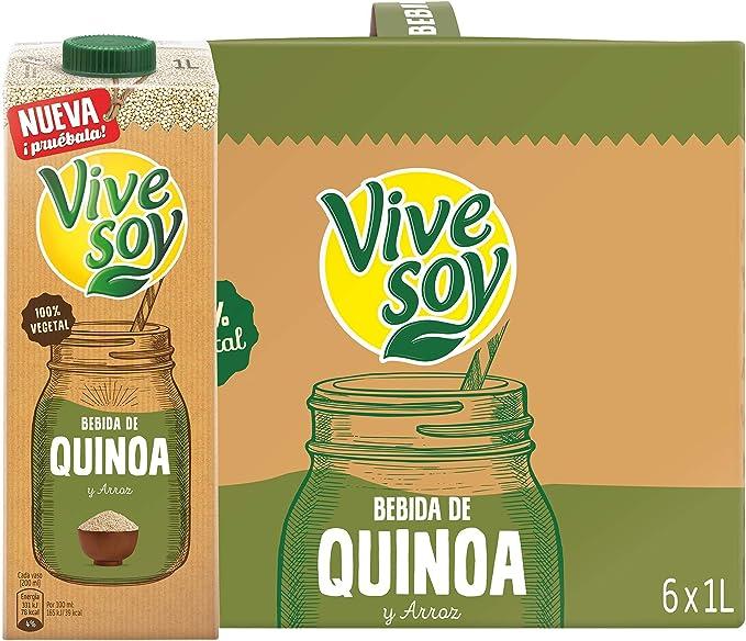 Vivesoy Bebida de Quínoa - Paquete de 6 x 1000 ml - Total: 6000 ml ...
