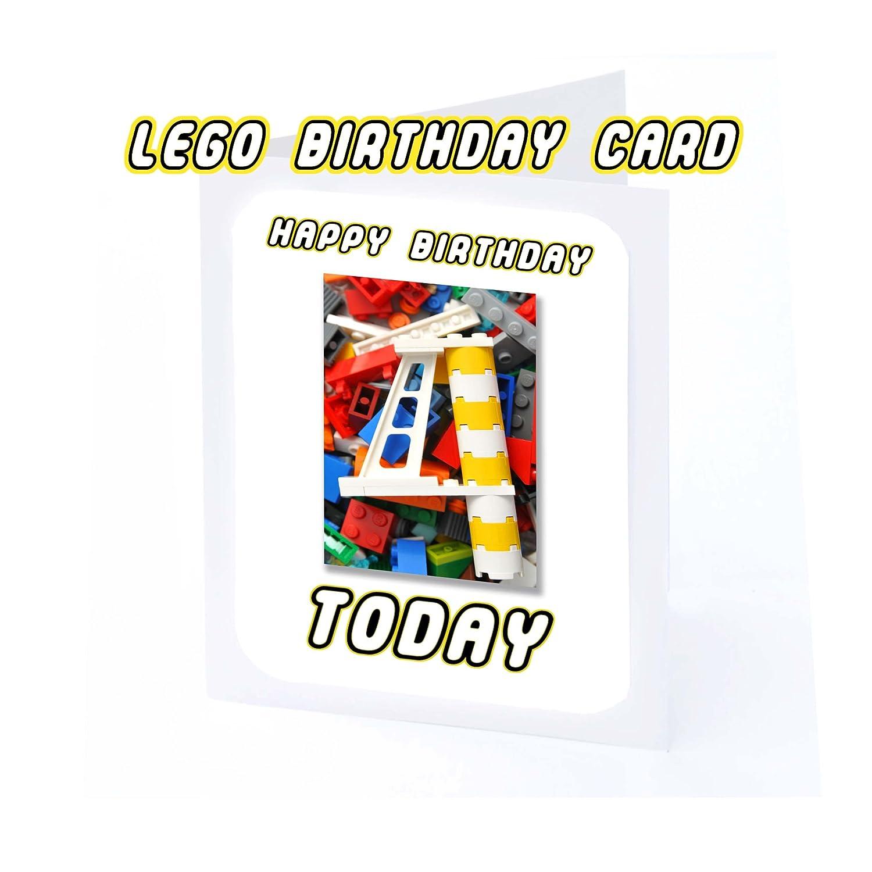 Tarjeta de felicitación de cumpleaños (Lego), color LEGO AT ...