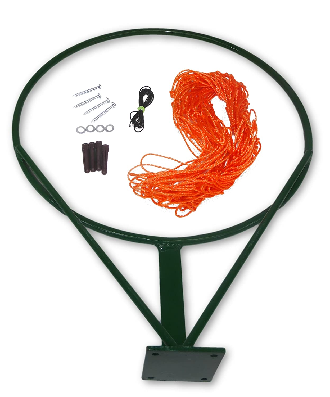 Cartasport Unisex's Netball Ring and Net Set (Ball not Included), Orange NBR