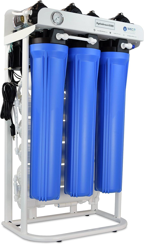 WECO HydroSense Light Commercial Reverse Osmosis Water Filter System (HydroSense-0500GAC-CAL-UV)