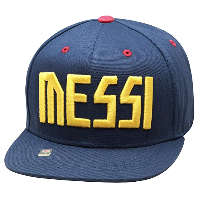 Fc Barcelona Lionel Messi Snapback Neymar Jr Youth Kids Adjustable Cap Hat  - Blue - Maroon f9311e7e576