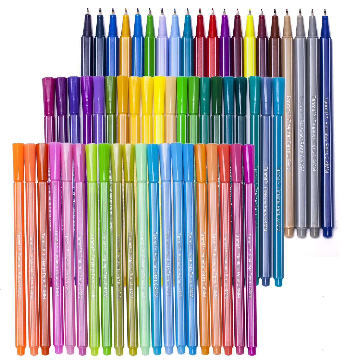 amazoncom tanmit 60 fineliner coloring pens set 04mm ultra fine tip unique colored pen porous fine point markers perfect for adult coloring books