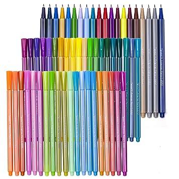 Amazon.com : 60 Fineliner Color Pen Set, Tanmit 0.4 mm Fine Line ...