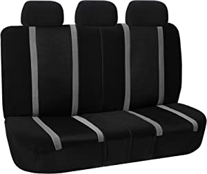 FH Group FB070013 Sports Seat Covers (Gray) Rear Set – Universal Fit for Cars Trucks & SUVs