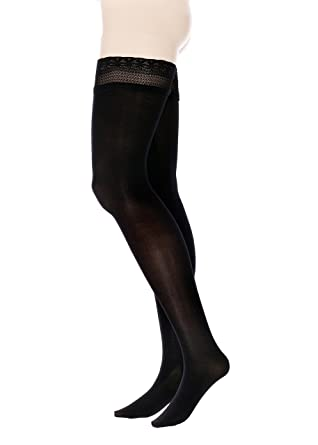 5438f83802d Amazon.com: GLAMORY Vital 70 Hold-Ups Support Tights Plus Size: Clothing