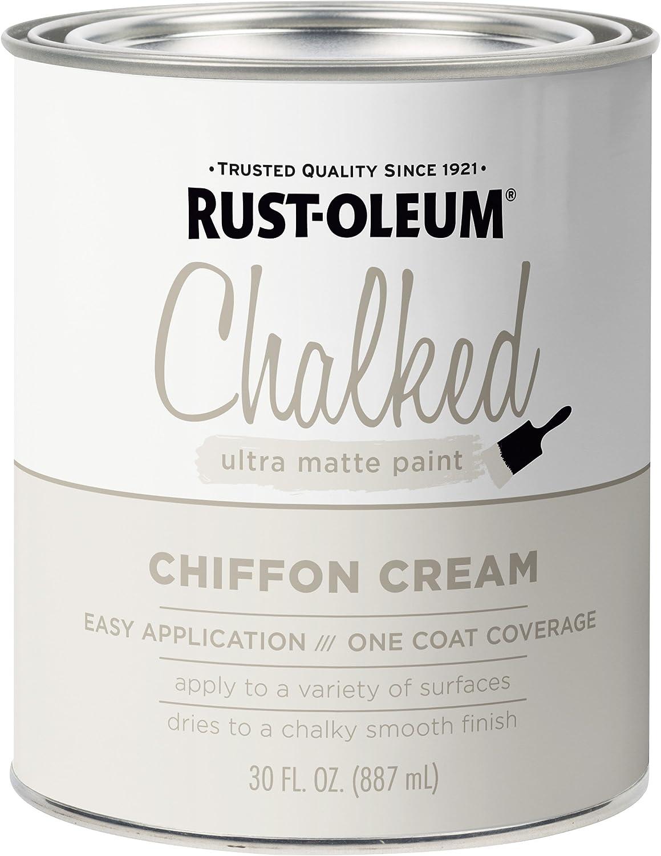 Rust-Oleum 329598 Chalked Ultra Matte Paint, 30 oz, Chiffon Cream