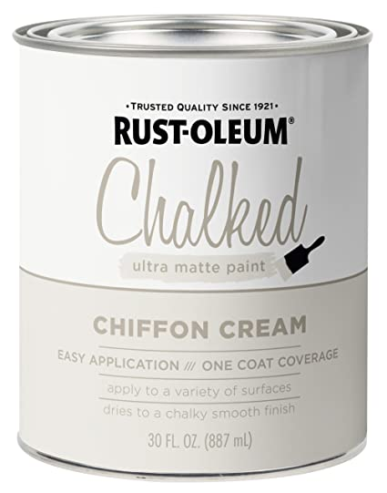 Rust Oleum 329598 Chalked Ultra Matte Paint 30 Oz Chiffon Cream