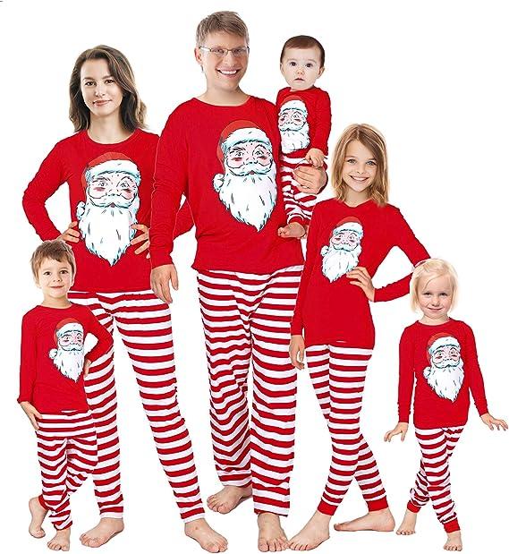 Matching Family Pajamas Christmas Red Sleepwear