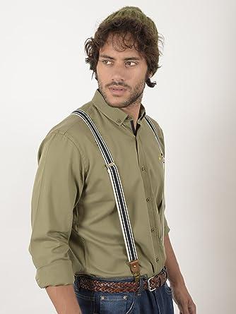EL FLAMENCO Camisa Caballero Sarga Lisa, Verde, 6 para Hombre: Amazon.es: Ropa y accesorios