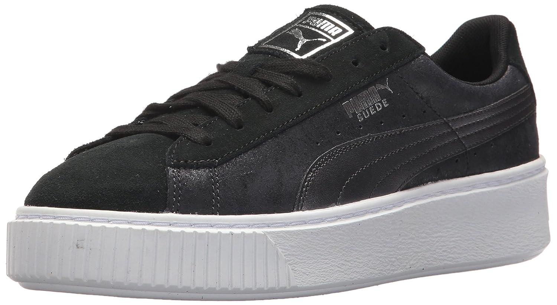 PUMA Women's Suede Platform Safari Wn Sneaker B01MXZ56K2 11 M US|Puma Black-puma Black