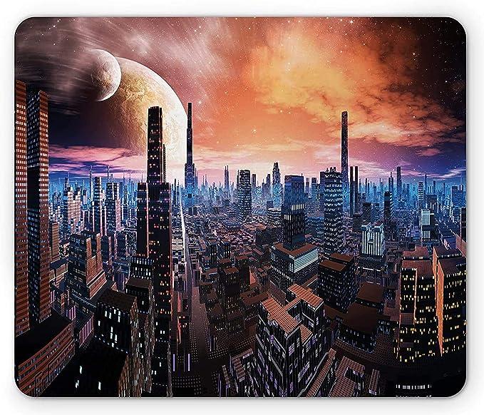 City Mouse Pad Paisaje Urbano futurista en el Mundo distante ...