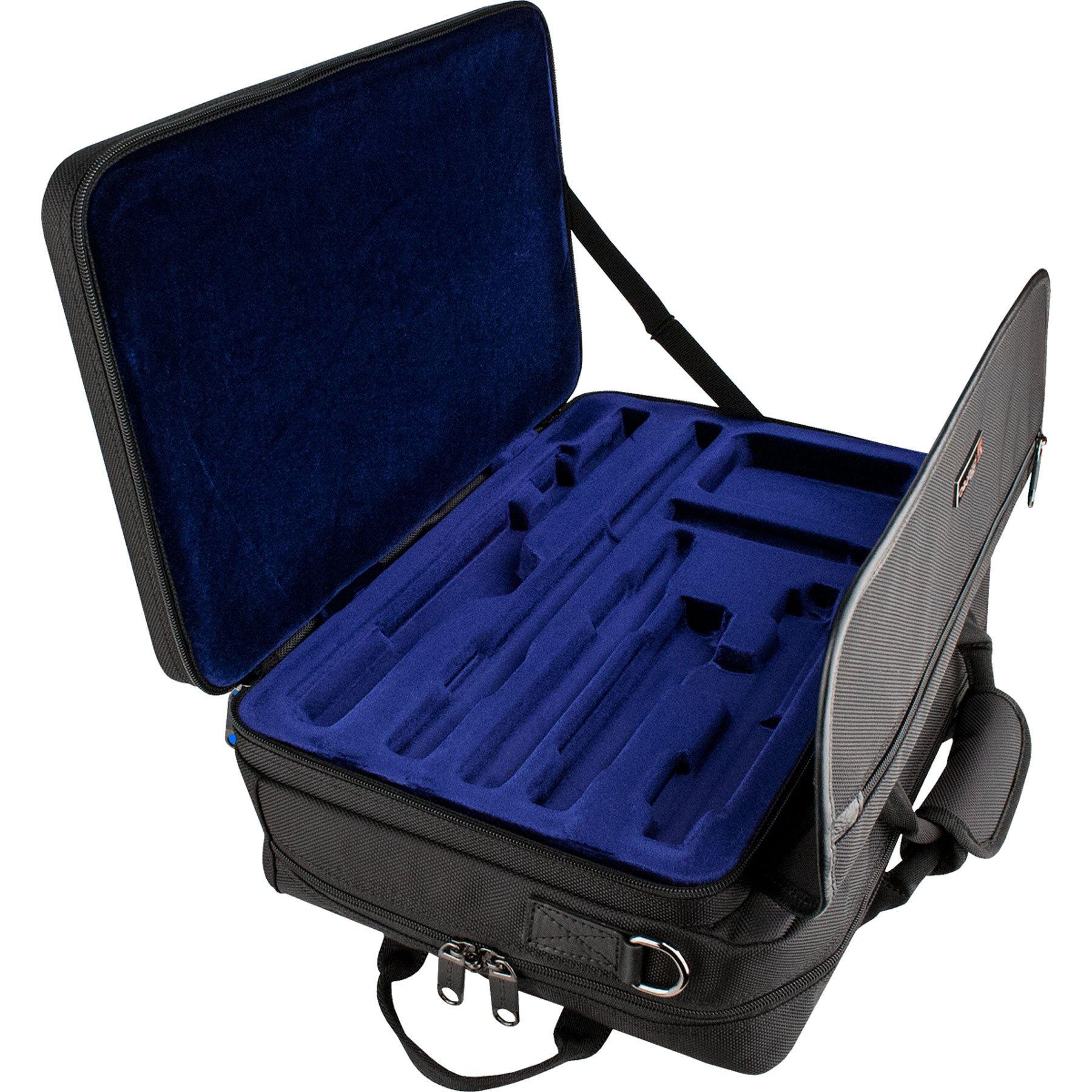 Pro Tec Lux Flute/Piccolo Messenger PRO PAC Case LX308PICC Flute, Black by ProTec