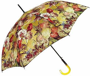 Paraguas Chantal Thomass-Paraguas derecho de flores, color amarillo: Amazon.es: Equipaje