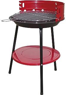 Bcalpe 11936 Barbacoa carbón, Rojo Y Negro, 40x40x8 cm