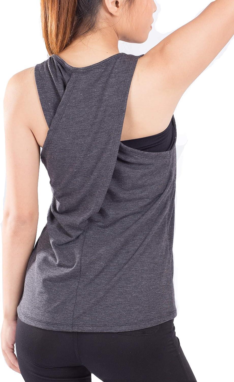 Lofbaz Maglia Yoga Donna Crossback Activewear Allenamento Canotta Racerback