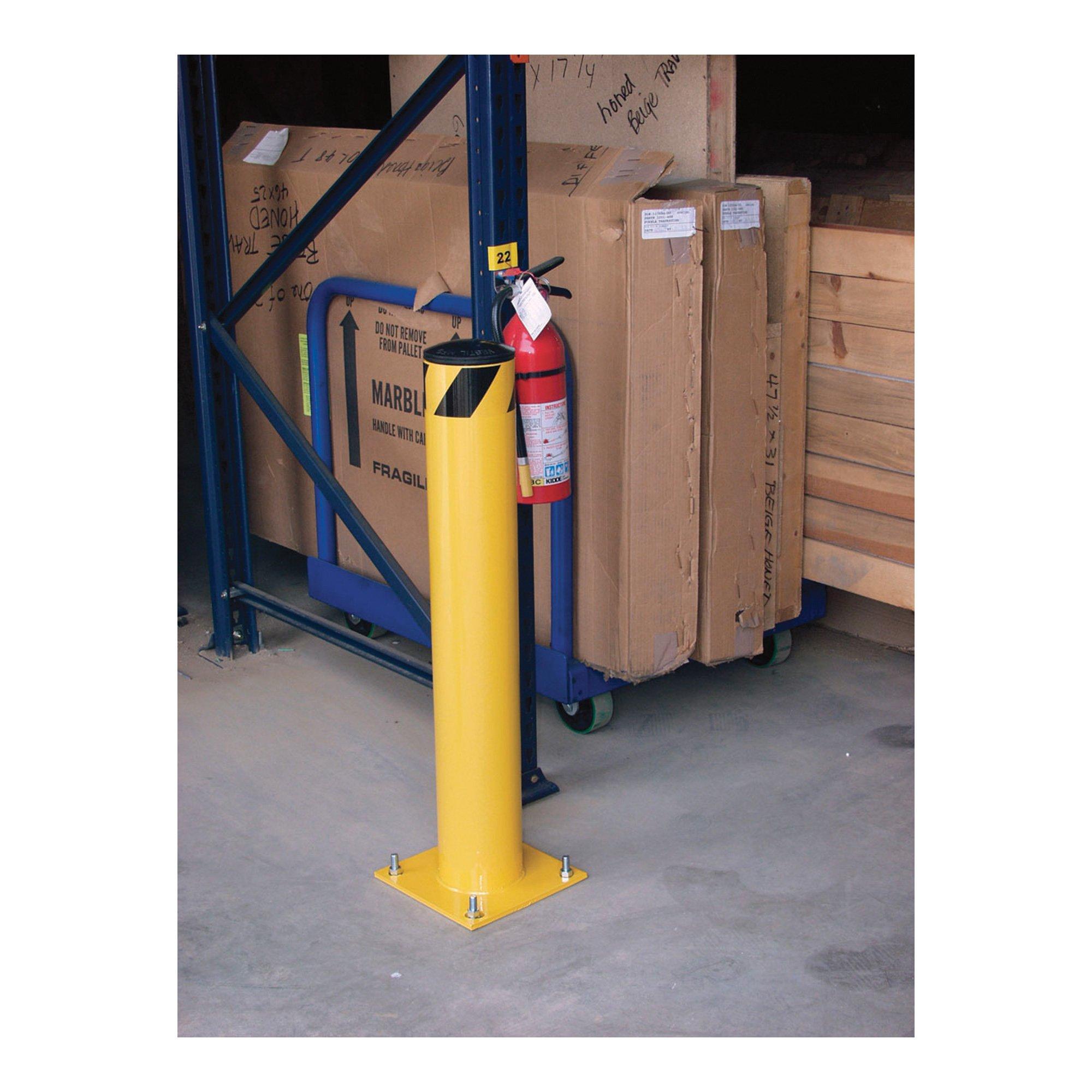 Vestil Steel Pipe Safety Bollard - 24in.H, 1 3/4in. dia., Model# BOL-24-2