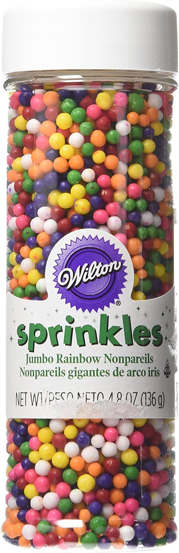Wilton Rainbow Nonpareils Food Decorative Baking Essentials, 4.8 oz, Multicolored