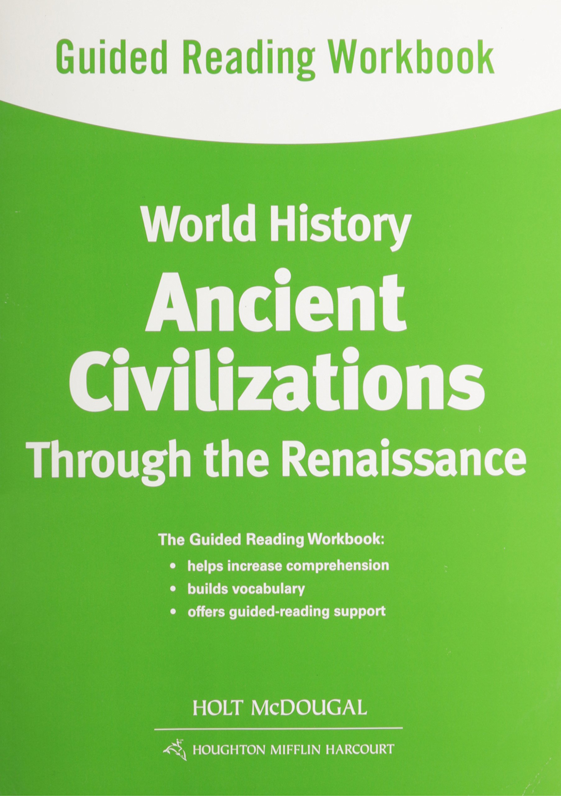 World history guided reading workbook ancient civilizations through world history guided reading workbook ancient civilizations through the renaissance holt mcdougal 9780547513089 amazon books fandeluxe Images