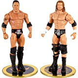WWE The Rock vs Triple H Championship Showdown 2-Pack 6-in Action Figures Friday Night Smackdown Battle Pack for Ages 6 Years