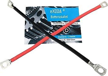 Exoda Batteriekabel Set 50 Mm 50cm Kupfer Stromkabel Mit Ringösen M8 Rot Und Schwarz Auto
