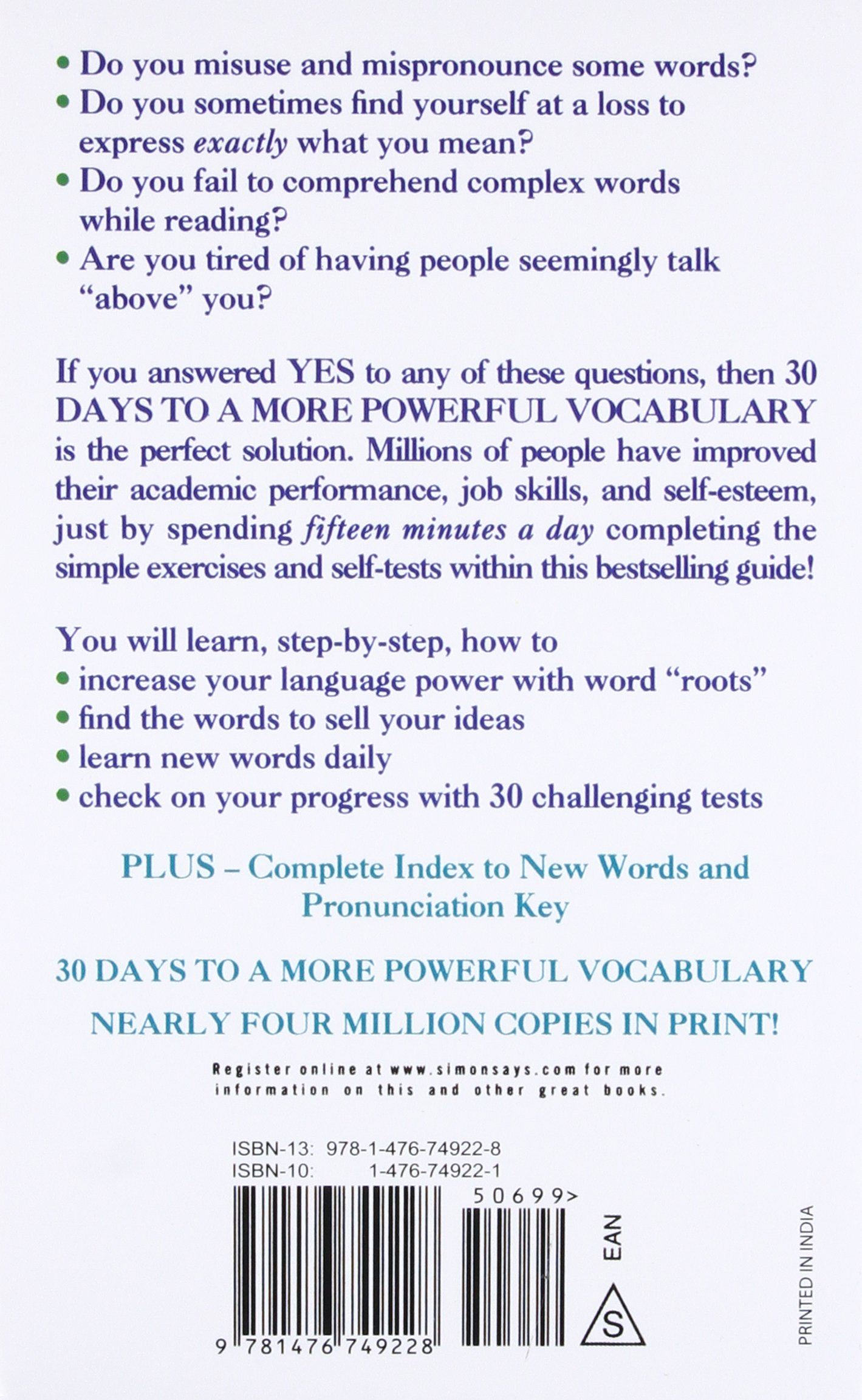 30 Days To A More Powerful Vocabulary Amazon De Funk Bucher
