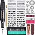 Uolor 108 Pcs Engraving Tool Kit, Multi-Functional Electric Corded Micro Engraver Etching Pen DIY Rotary Tool for Jewelry Glass Wood Metal Ceramic Plastic with Scriber, 82 Accessories and 24 Stencils