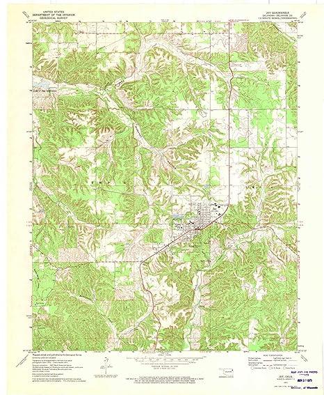 Jay Oklahoma Map.Amazon Com Yellowmaps Jay Ok Topo Map 1 24000 Scale 7 5 X 7 5