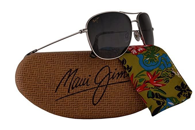Maui Jim Cliff House Sunglasses Silver w Polarized Neutral Grey Lens  MJ247-17 20c0df658369