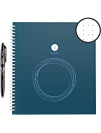 Rocketbook Wave Smart Notebook - Dotted Grid Eco-Friendly Notebook with 1 Pilot Frixion Pen Included - Standard Size