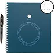 Rocketbook Wave Smart Notebook - Dotted Grid Eco-Friendly Notebook with 1 Pilot Frixion Pen Included - Standard Size (8.5