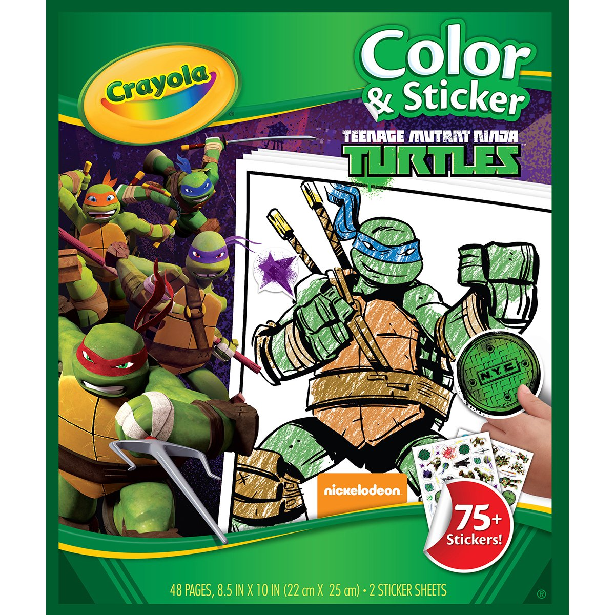 Amazon.com: Crayola Teenage Mutant Ninja Turtles Color \'n Sticker ...