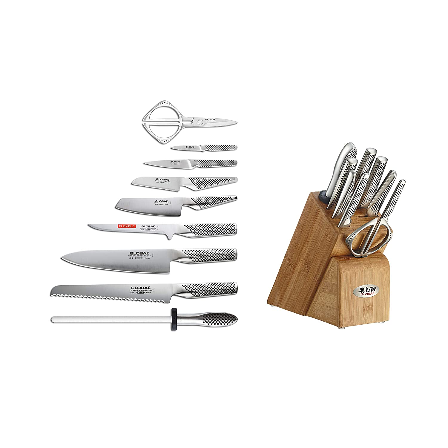 Amazon.com: Global 10-Piece Knife Block Set g-79589au ...
